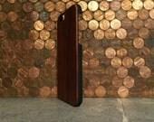 WOOD IPHONE 6 case  hand  polished exotic rosewood wood back ,real wood ,sharp looking black edge