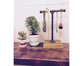 Small Industrial Jewelry Organizer and Display Stand