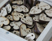 100 Personalised heart tags
