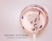 12 Lollipops Lavender and Marshmallow // Sweet // Floral Lollipops // Unique Wedding Favor // Custom Labels Available