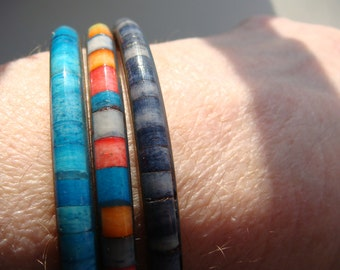 Great Dyed Shell Inlay Bangles