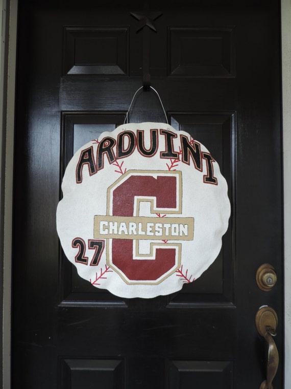 College of Charleston Baseball Door Hanger