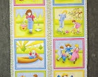 Quilt Fabric Panel by P& B SING A SONG Nursery Rhyme Panel