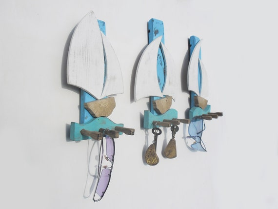 Items Similar To Unique Key Holder With Sailboats