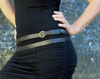 Leather belt-Thin Wrap Around Leather Belt-thin leather belt-Low waist belt-brown leather belt-womens accessories-womens clothes-sexy belts