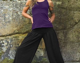 Harem Pants-Women's bottoms-Ladies pants-baggy trousers-dance bottoms-flowy pants-loose pants-baggy dance pants-black pants-comfy cotton