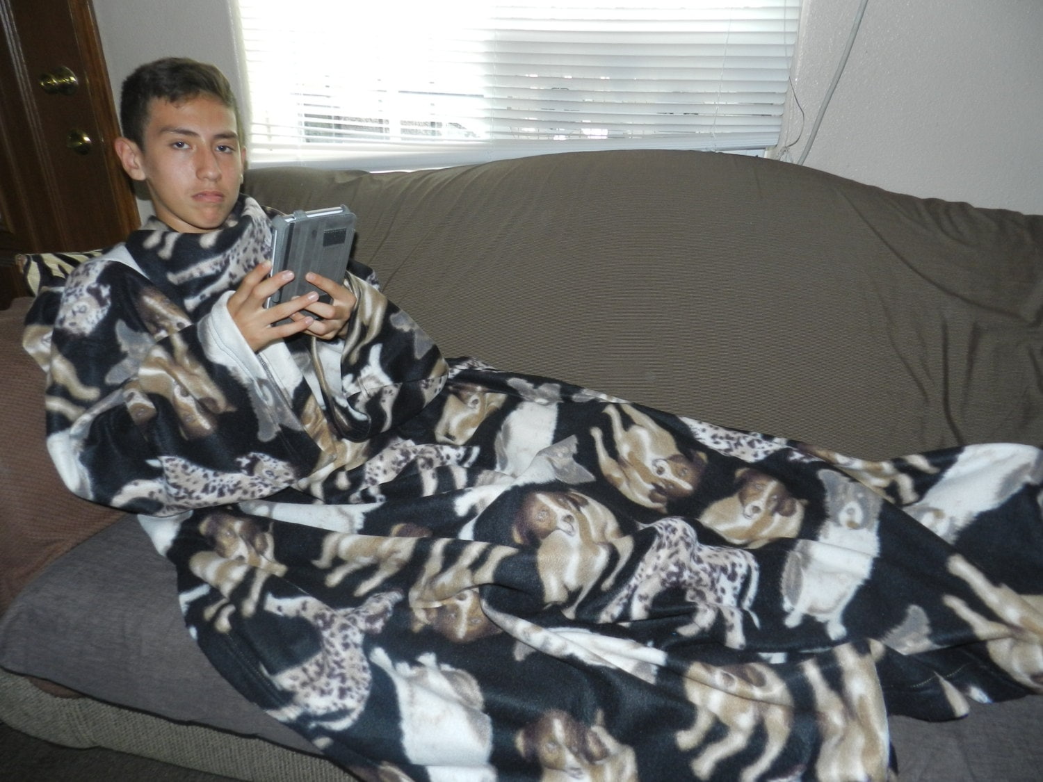 Zebra Print Snuggie Dog Print Fleece Snuggie