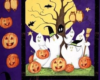 Ghost Story Halloween Panel Cotton Quilting Fabric - Steele Creek Studio