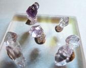 Sale Vera Cruz Amethyst Crystals Double Terminated Amethyst Points Tiny Little Crystal Thumbnail Specimens