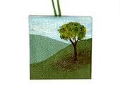 Sale Hillside Tree, Miniature Landscape Painting, Bottle Decoration, Hillside Landscape, Hillside Miniature