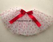 Valentine Tutu Skirt, Toddler Tutu, Girls Tutu Skirts, Heart Print Tutu