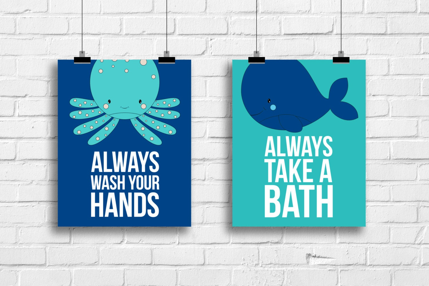 kids whale bathroom decor bathroom decor whale and octopus prints always wash 19000