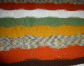 Afghan Hand Knitted Blanket - Throw - Large Baby Blanket