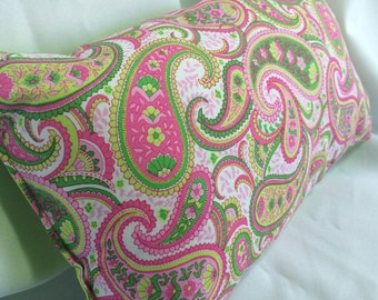SALE Pillow Pink Paisley Themed