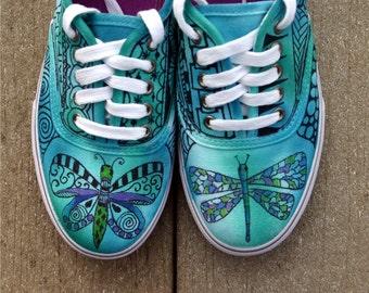 Zentangle sneakers, shoes, sneakers, custom sneakers, zentangle art, original art, OOAK, womens sneakers, handpainted