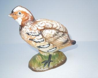 Vintage 1950s Quail Bird Vase, Beautiful, Marked E3505