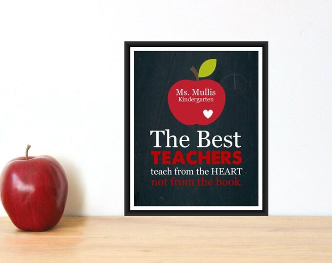 Teacher Appreciation Gift Print 8x10 Personalized Teacher Gift