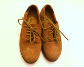 Boys' Shoes, Tan Suede Shoes, Willits Boys' Tan Suede Leather Lace-Up Shoes, Boys' Dress Shoes, Size 1.5W