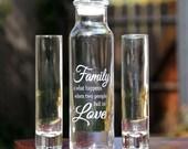 3 Sand Ceremony Cylinder Set, Unity Bottle