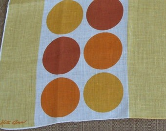Kit Ann Vintage Textile Art Handkerchief