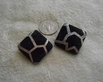 Vtg RETRO Pierced Earrings- Awesome Squares-R3694