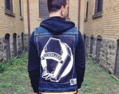 """Goodluck 13""""x16"""" screen printed back patch"""