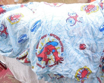 Sheet Sets, Twin Size Spiderman Sheet Set, 1 Flat and 1 Fitted Sheet Set,Spiderman,  Boys Room Decor, Home Decor,  :)s