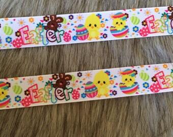 "7/8"" Happy Easter Grosgrain Ribbon"