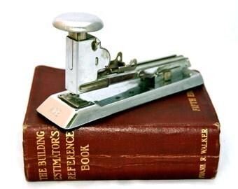 Ace Pilot Stapler 404 Vintage Mid Century Office Stapler Industrial Home Office Decor Metal Chrome Staplers