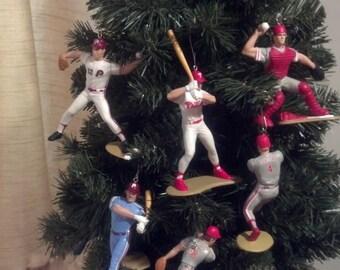 Philadelphia Phillies Mike Schmidt, Darren Daulton, Scott Rolen baseball christmas sports ornament