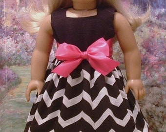 Pink and Black Special Occasion Dress for American Girl