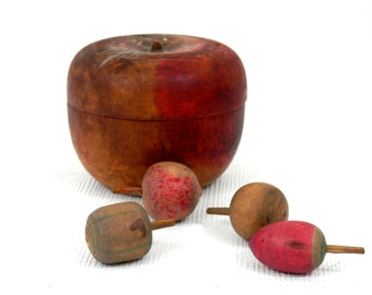 Treenware Apple Box with Miniature Treenware Nuts