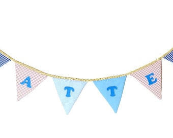 Custom Name Banner, Baby Shower Decoration, Kids Room Decor, Child's Name, Personalized Name, Nursery Garland