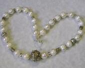 Potato Pearl and Bali Silver Necklace