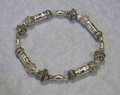 Bali, Thai Karen and Silver Bead Stretch Bracelet