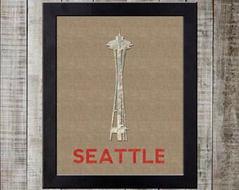 Seattle, Washington USA World Landmark Print - Space Needle