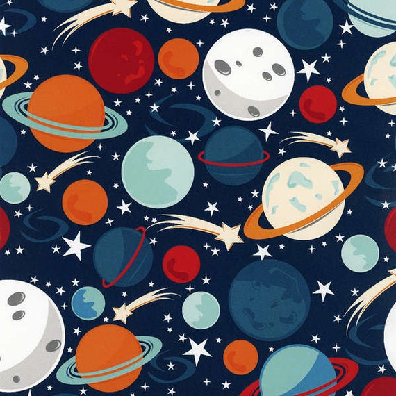 Wilmington fabric planets fat quarter for Planet print fabric
