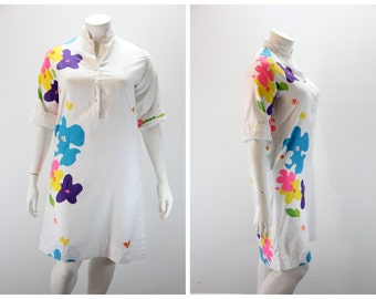 XL Vintage Dress OQUST Floral Print