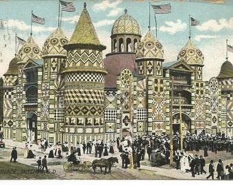 Vintage 1900's Corn Palace Postcard