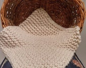 Extra Chunky Mini Hand Knit Baby Photography Prop Blanket