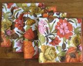 Floral Print Cloth Napkins-Set of 4