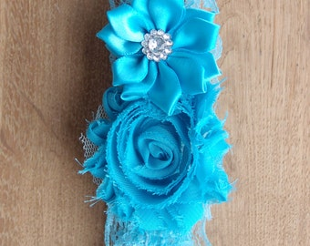 Blue wedding garter, blue garter, something blue wedding garter, blue bridal garters, toss garter, keepsake garter, wedding favors
