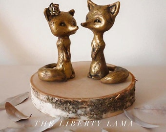Little Foxes Wedding Cake Topper