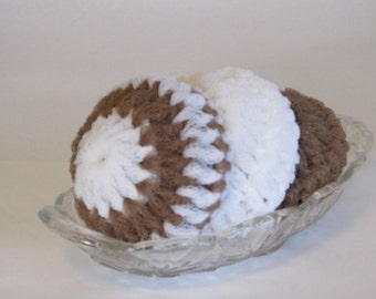 Nylon Net Scrubbies For Your Kitchen And Bath - Multi Color Latte And White