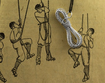 "Pendant ""Climbing rope""  Mountaineering and rock climbing theme"