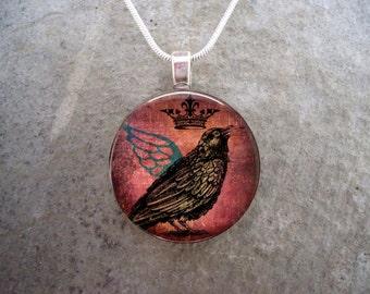 PRE-ORDER Bird Necklace - Crow Jewelry - Raven Pendant - Crow Jewelry - Raven 6