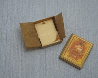 Gaël  Miniature Ladies romantic paper set in box  fixed 1 :12 Dollhouse Miniature Home Decor Accessory. Handmade miniatures