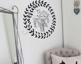 typography wall sticker decal | 58 x 58 cm // 23 x 23 inches