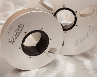 "Master Audio Tape Reels - Large Aluminum Reels for 2"" Wide Tape - Great Display - Scotch"