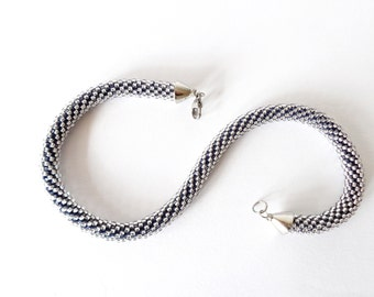 White Choker/ Nautical Rope High Fashion Necklace/Wedding jewelry/Urban Chic Jewel/Crochet Accessories for brides